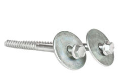 Screws. Over a white background Stock Images