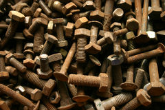 Screws. Some rusty screws royalty free stock images
