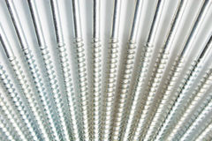 Screws. Group of screws on white Stock Photos