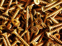 Screws. Box of 40mm Screws royalty free stock photos