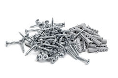 Screws And Wall Plugs Royalty Free Stock Photography