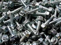 Screws background Royalty Free Stock Photos