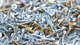 Screws background Royalty Free Stock Images