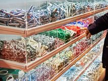 Screws, bolts, dowels and fasteners in store. Screws, bolts, dowels and fasteners in the store Stock Images