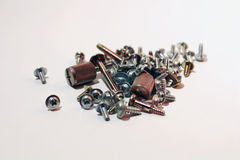 Screws and bolts. Hardware excisting of screws and bolts for computers Stock Photo