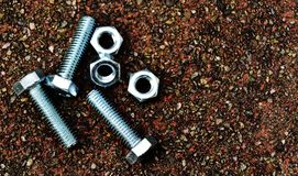 Screws and bolts. Image of screws and bolts, objects made for hardware and construction Stock Photo