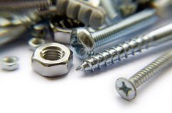 Screws And Bolts Stock Photo