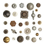 Screws and Bolts. Metal, Wood and Drywall Screws and Bolts  Isolated on White Background Stock Image