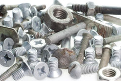 Screws, bolts and nuts. Photo of screws, bolts and nuts Royalty Free Stock Photos
