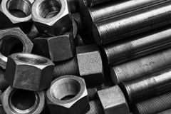 Screws and bolts pile Royalty Free Stock Images