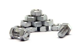 Screws bolts stack Stock Photos