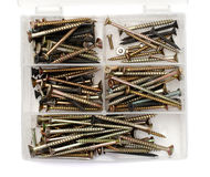 Screws box Stock Images