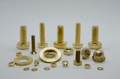 Screws brass royalty free stock photography