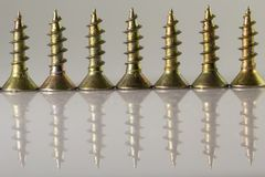 Screws  in close up with reflex Royalty Free Stock Image