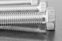 Screws closeup Royalty Free Stock Photos