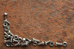 Screws collection on grunge background Stock Photography