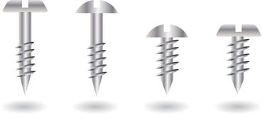 Screws collection royalty free illustration