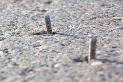 Screws in Concrete Stock Images