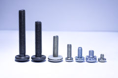 Screws of different lengths Royalty Free Stock Photo