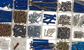 Screws and dowels Royalty Free Stock Image