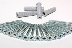 Screws and dowels Stock Image