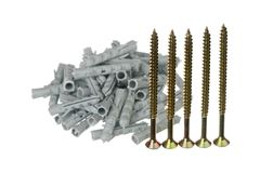 Screws and dowels Stock Images