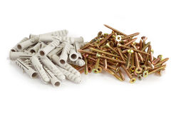 Screws and dowels Royalty Free Stock Photography