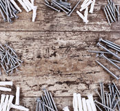 Screws and dowels Stock Photos