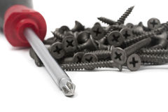 Screws with Driver royalty free stock image