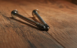 Screws on the floor Royalty Free Stock Photo