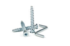 Screws for furniture Royalty Free Stock Image