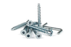 Screws for furniture Royalty Free Stock Photography