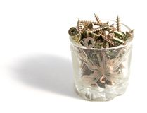 Screws in glass Royalty Free Stock Photo