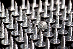 Screws group. Isolated on black royalty free stock photos