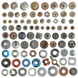 Screws head and washer collection Royalty Free Stock Photo