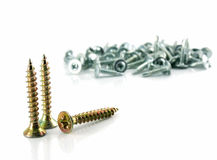 A screws isolated Royalty Free Stock Photos