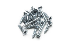 Screws isolated. On the white background Stock Photos
