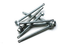 Screws isolated Royalty Free Stock Images