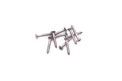 Screws isolated on white background Royalty Free Stock Photography