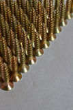 Screws lined up in rows Royalty Free Stock Photo