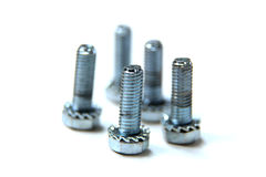 Screws with lock washers Royalty Free Stock Photography