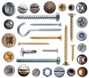 Screws and nail Royalty Free Stock Images