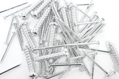 Screws and nails Stock Photography