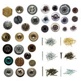 Screws and nails Stock Images