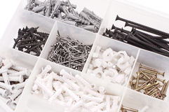 Screws nails dowels Royalty Free Stock Images