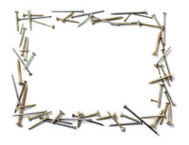 Screws and nails frame Royalty Free Stock Image