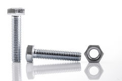 Screws and nut Royalty Free Stock Photo
