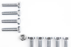 Screws and nut Stock Image