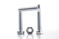 Screws and nut Stock Photo