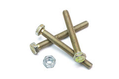 Screws and nut Stock Images